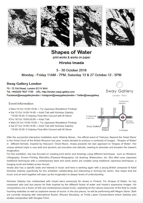 Shapes of Water Flyer Back